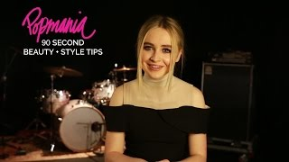 Sabrina Carpenter: 90 Seconds Of Beauty + Style Tips
