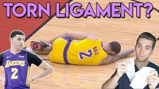 TORN Ankle Ligament? Lonzo Ball Injury Ankle Sprain