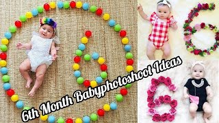 6th Month Baby Photoshoot At Home | Monthly Baby Photoshoot Ideas | Creative Babyphotoshoot