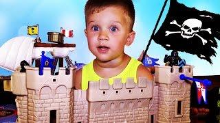★ ПИРАТЫ Корабль и Замок Коврик-Остров Baby Great Приключения Пиратов Пазл Pirates unboxing new toys