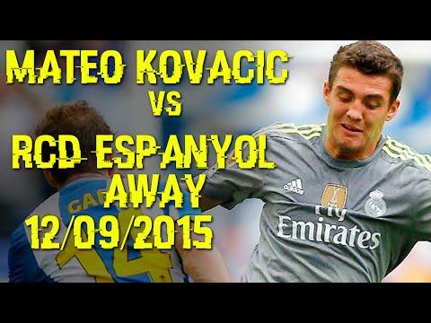 Mateo Kovacic vs Espanyol Away 12/09/2015 - Espanyol vs Real Madrid 0-6 [HD]