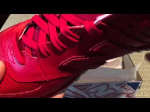 New Balance 574 Perforated Leather On Foot смотреть онлайн