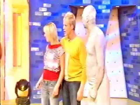 mannequin-man performming as a Human Statue: Living Statue for CBBC's SMART recorded at BBC television centre studio 1 for BBC on 27/06/2004