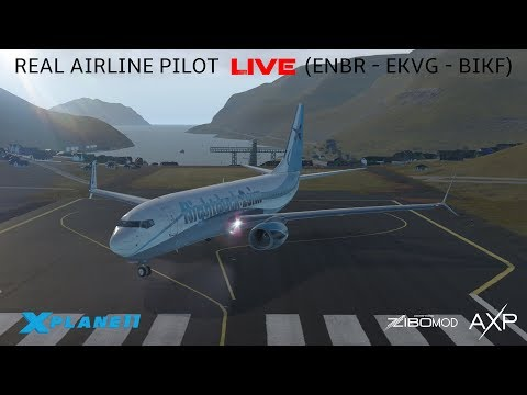 X-Plane 11 | Real Airline Captain LIVE (ZIBO MOD 737) | Bergen - Faroe Islands - Keflavik