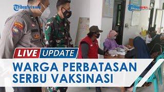 Warga Desa Perbatasan Serbu Vaksinasi Covid-19 di Pringsewu, Polisi Sampai Tambah Jumlah Vaksin