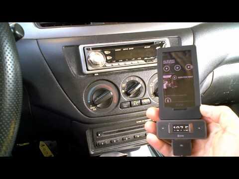 Escucha musica desde un player mp3 en tu auto sin necesidad de cable aux - Transmisor FM
