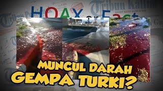 Hoax or Fact: Air Darah Keluar di Jalanan setelah Gempa Mengguncang Turki?
