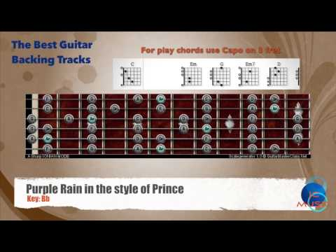 Purple Rain - Prince Guitar Capo 3 Backing Track With Scale Chart ...