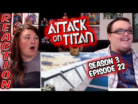 "Attack on Titan 3x22 FINALE REACTION!! ""The Other Side of the Wall"""