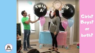 TWINS OF 2018 BABY GENDER REVEAL  /CUTE UNIQUE BABY SHOWER IDEAS