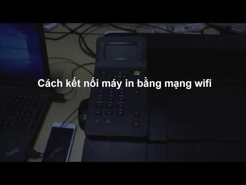 Cách cài đặt kết nối mạng Wifi ở máy in Canon - Canon LBP212dw