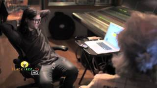 Skrillex in the studio creating music!