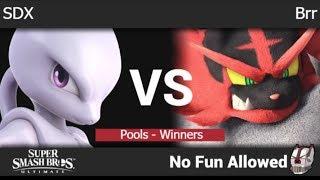 NFA 3 - SDX (Mewtwo, Wolf) vs Brr (Incineroar) Pools - Winners - SSBU