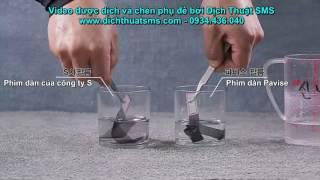 Video quảng cáo phim dán Pavise - Dịch Hàn-Việt và làm phụ đề