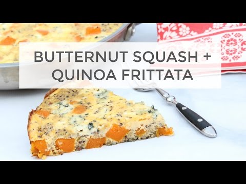 Butternut Squash and Quinoa Frittata | Healthy Holiday Brunch Recipe