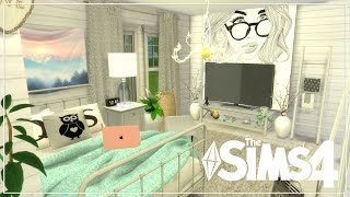 The Sims 4| Room Build| Black And White Teenage Bedrooms! (Speed Build)/Q&A!