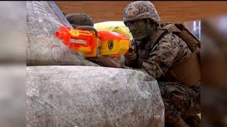 Marines Battle Children with Toys