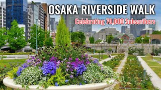 Riverside Walk around Osaka Station, Celebrating 70,000 Subscribers with Foods and Drink!