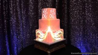 Wedding Cake Projection Mapping by Karma Event Lighting
