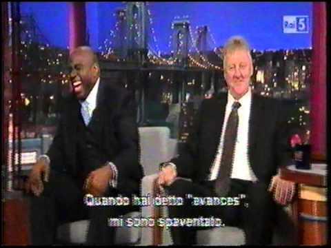 Magic Johnson & Larry Bird ospiti al Late Show di Letterman sub ita, parte uno