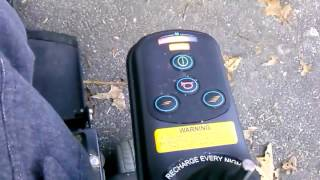 How to reset and lock your Hoveround scooter