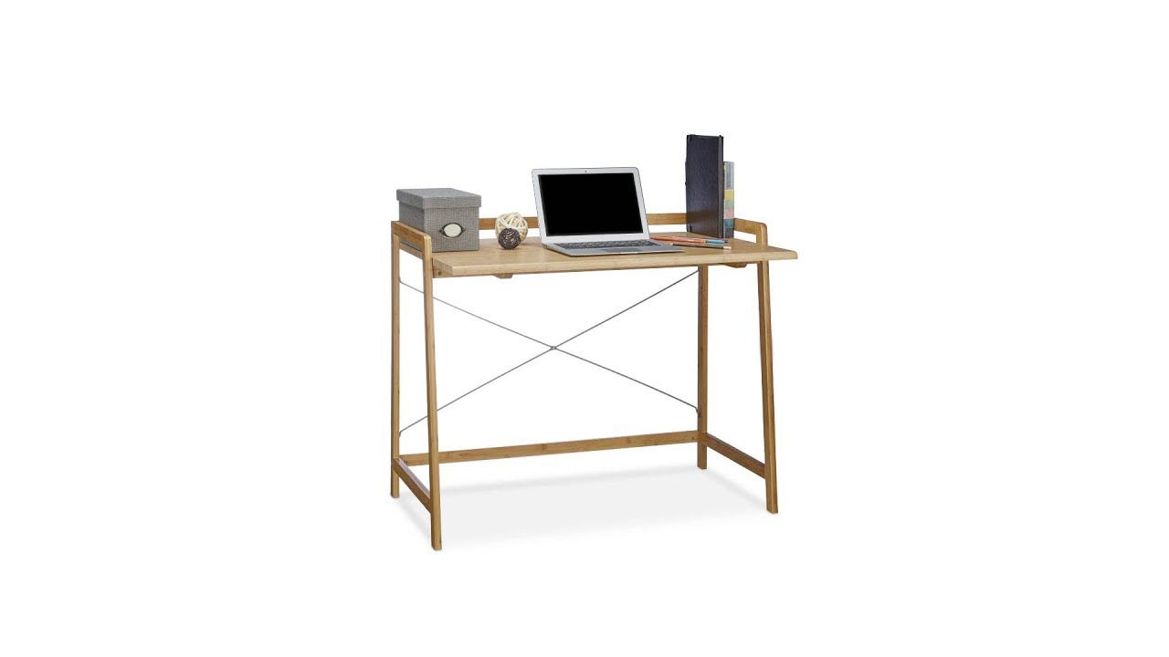 Video von: Schreibtisch Bambus mit Kreuzstrebe