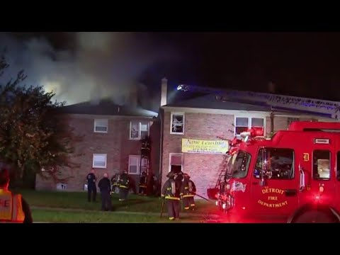 12 families without place to stay after apartment fire on Detroit's west side