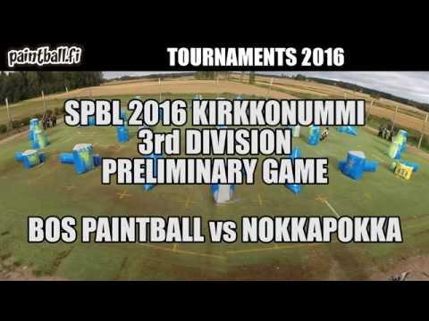 BOS Paintball vs Nokkapokka - SPBL2016 Kirkkonummi