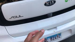 Open the trunk from outside - KIA SOUL