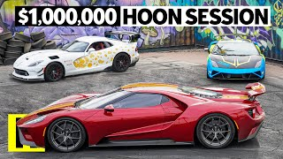 Daily Driven Exotics Invade the Burnyard! Ford GT, Dodge Viper, and Lambo Get Rowdy