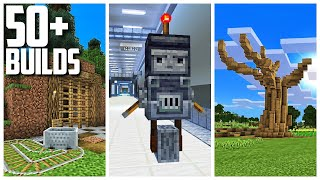 50+ Build Ideas In Minecraft From My Survival World!