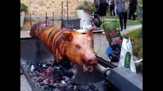 preview picture of video 'Wedding Spit Roast Pig love and marriage with AbsolutelyBBQ'