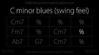 C minor Blues : Backing Track (Jazz/Swing feel)