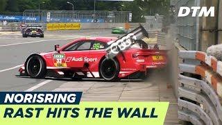 DTM - Norisring2018 Qualifying1 Rast Crashes