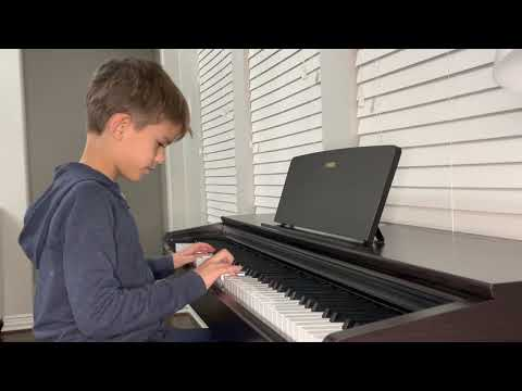 My young student perform for online Gold Cup festival