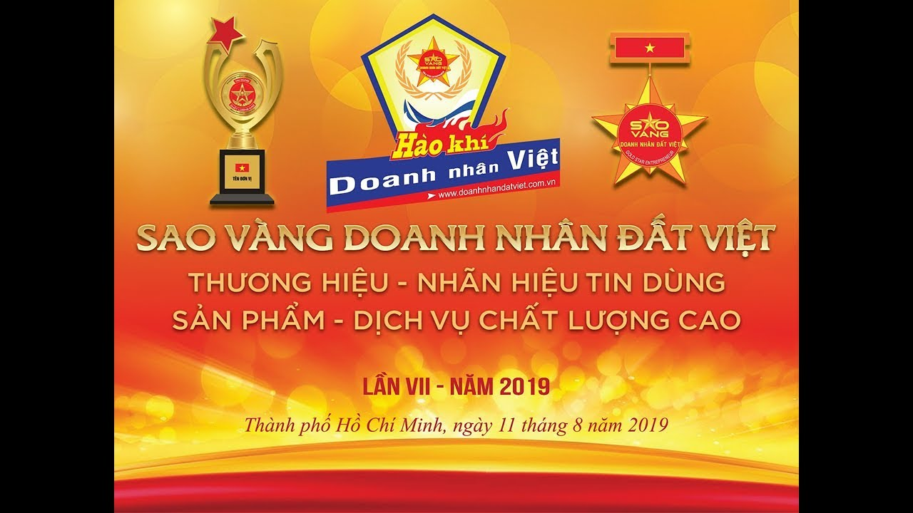 Sao vàng Doanh nhân Đất Việt, Thương hiệu – Nhãn hiệu tin dùng, Sản phẩm – Dịch vụ chất lượng cao. Lần VII – Năm 2019 – Đợt 1