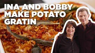 Bobby Flay And Ina Garten Make Eleven-Layer Potato Gratin   Food Network
