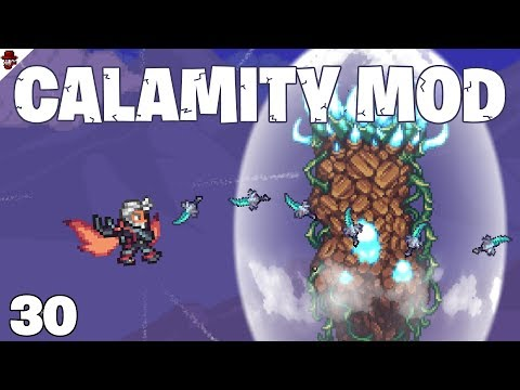 Terraria # 30 Intense Boss Fights! - Calamity Mod Let's Play