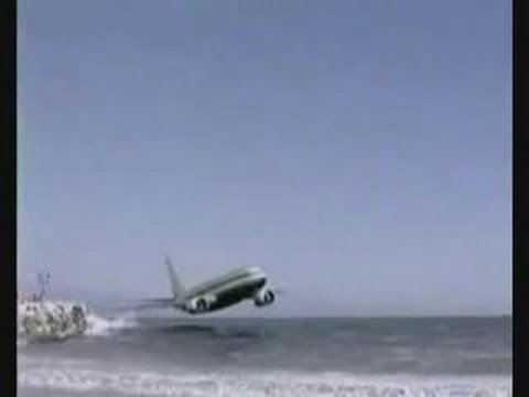 Plane crash on the beach