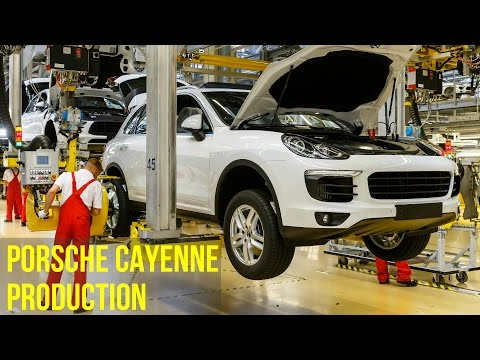 Porsche Cayenne and Porsche Panamera Assembly line