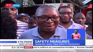 How Mtwapa drinking dens are taking safety measures to curb coronavirus spread