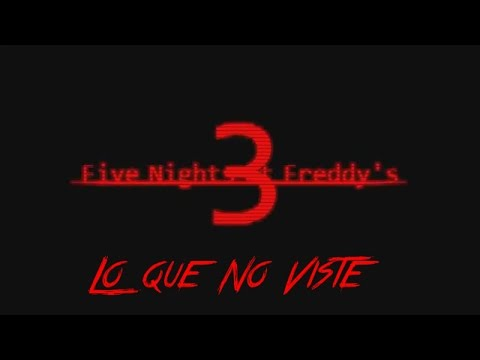 Lo Que No Viste En Five Nights At Freddy's 3 Teaser Trailer