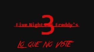 Lo Que No Viste En Five Nights At Freddy's 3 Teaser Trailer