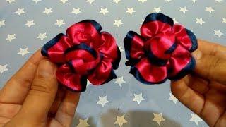 DIY Tutorial Bikin Bunga Jepit Rambut Dari Pita Satin