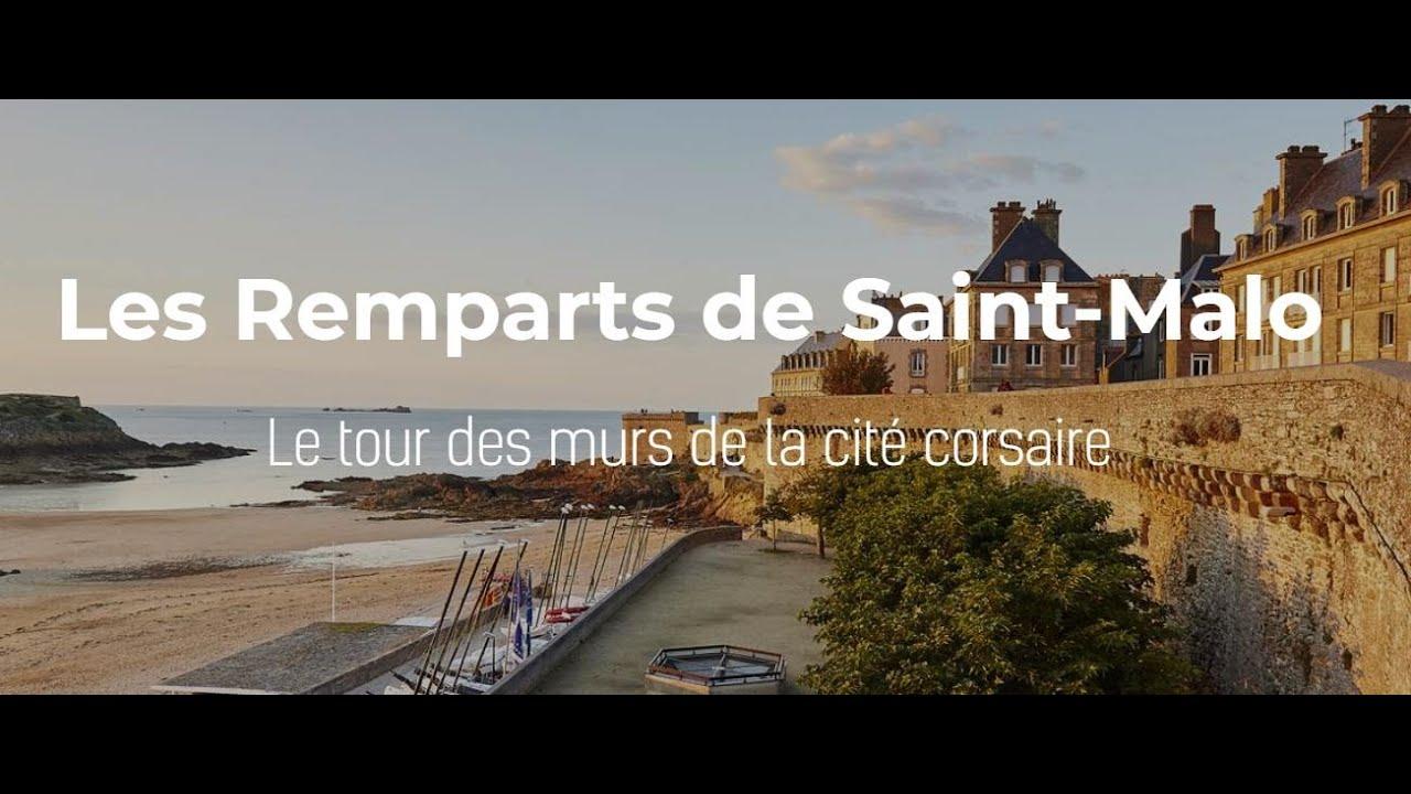 Webcam mobile à 180°, en direct de l'office du tourisme de Saint-Malo avec vue sur les remparts de Saint-Malo, le Grand-Bé, le Fort National et la plage