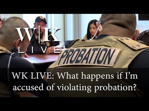 What happens if I'm accused of violating probation in California?