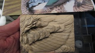 Bluewinged Teal Drake Wing  Feather Carving Demonstration  Part 2