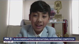 Illinois 6-year-old wins national handwriting competition