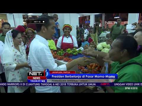 Presiden Berbelanja Di Pasar Mama mama, Jayapura NET10