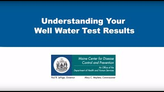 Understanding Your Well Water Test Results